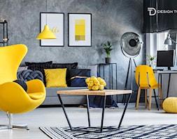 Hello Yellow, czyli nowoczesny salon ze szczyptą koloru - zdjęcie od Design Town - Homebook