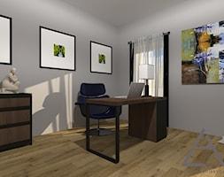 Apartament przy parku - Małe szare biuro domowe kącik do pracy, styl klasyczny - zdjęcie od Studio Projektów