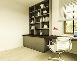 Willa w Walendowie - Średnie białe biuro kącik do pracy w pokoju, styl nowoczesny - zdjęcie od Casa Marvell Interior Design & Interior Boutique