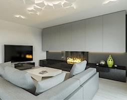 Dom jednorodzinny w Sochaczewie - Średni szary biały salon, styl nowoczesny - zdjęcie od Casa Marvell Interior Design & Interior Boutique