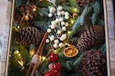 stroik bożonarodzeniowy z suszonymi pomarańczami