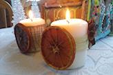 suszone pomarańcze jako dekoracja