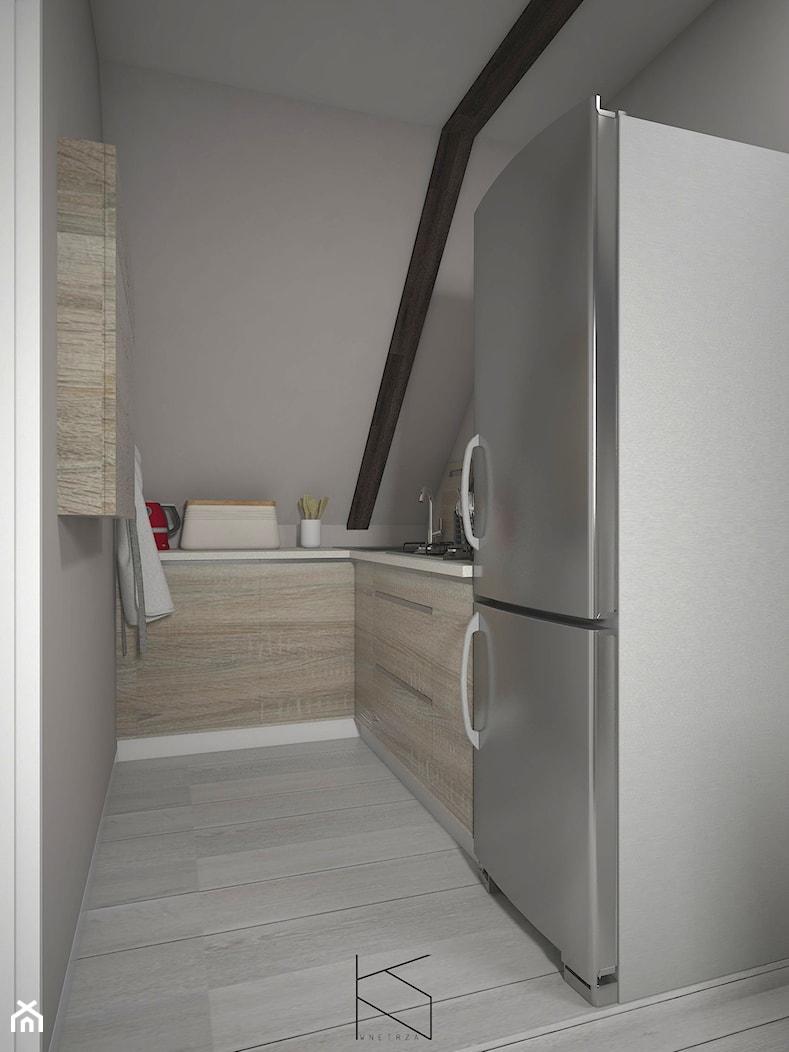 Adaptacja poddasza na przestrzeń mieszkalną - Kuchnia - zdjęcie od KN.wnętrza - Homebook
