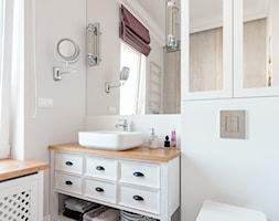Realizacja Lipiec 2018 - Średnia biała łazienka z oknem, styl eklektyczny - zdjęcie od Vprojekt design by Weronika - Homebook