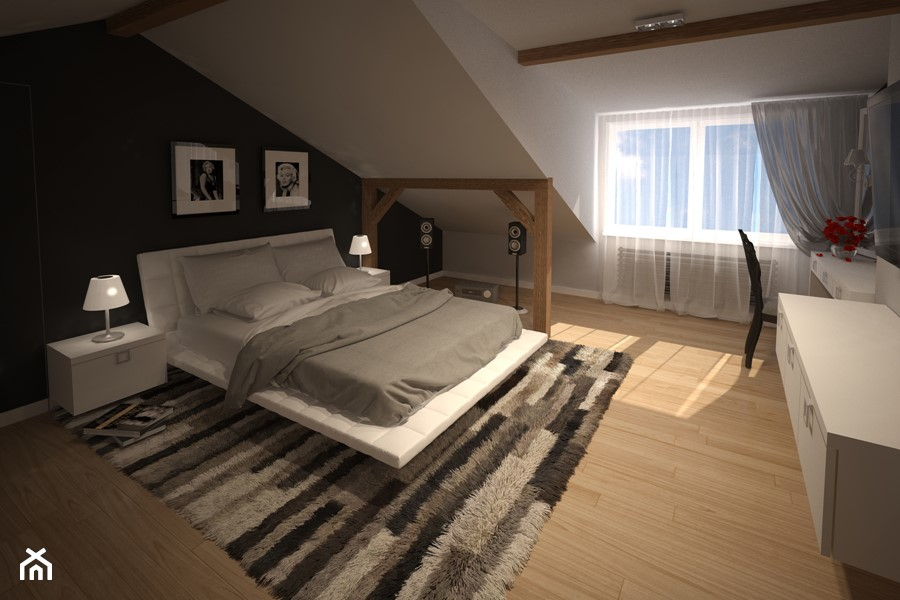 Sypialnia na poddaszu - zdjęcie od Marcin Ostrowski OMARTE ...