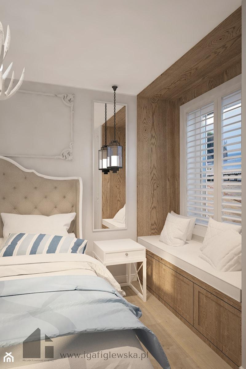 Projekt Apartamentu W Gdyni W Stylu Hampton Sypialnia