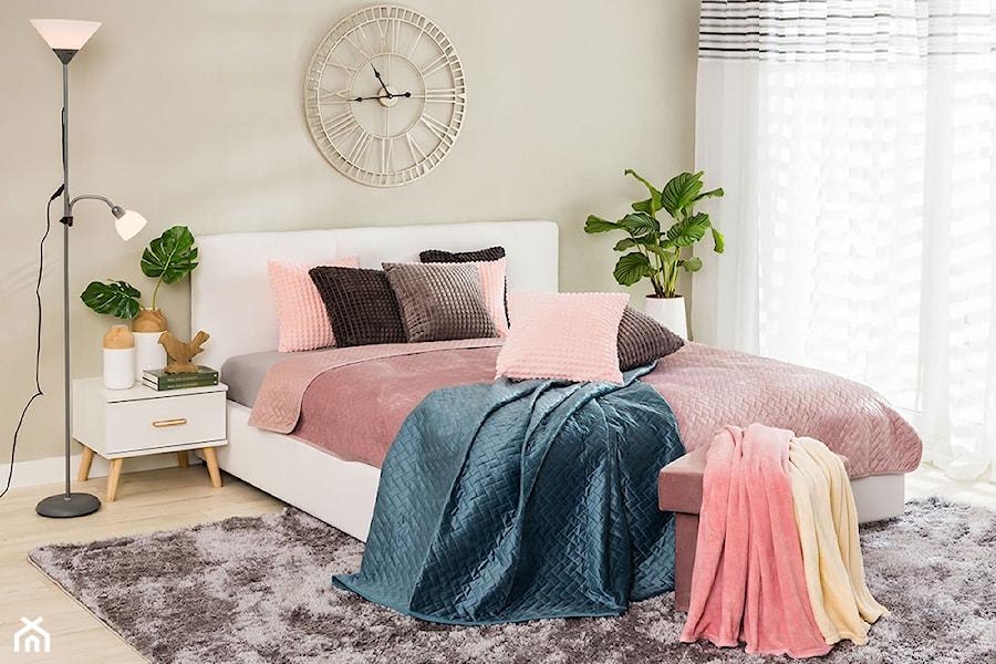 Sypialnia - Mała szara sypialnia małżeńska, styl skandynawski - zdjęcie od Salony Agata