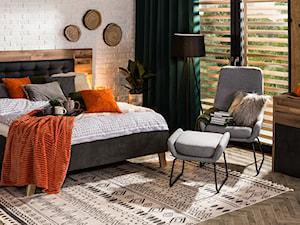 Sypialnia - Średnia szara sypialnia małżeńska, styl eklektyczny - zdjęcie od Salony Agata