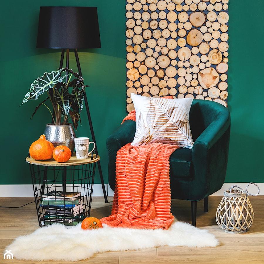 Przytulny salon - Mały zielony salon, styl eklektyczny - zdjęcie od Salony Agata
