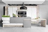 betonowa wyspa w kuchni