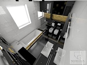 łazienka z nutą złota - Kraków - zdjęcie od NGORGOL