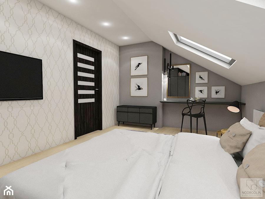 Sypialnia na poddaszu - Proszowice - zdjęcie od NGORGOL