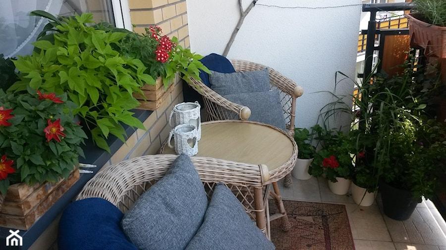 #kwiatowekompozycje - Mały taras z tyłu domu - zdjęcie od FLASH AD