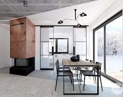 Salon/jadalnia z widokiem na kuchnię. - zdjęcie od 365 Stopni