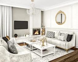 #11 Dom w Białymstoku - Mały szary salon, styl glamour - zdjęcie od BOLD Design