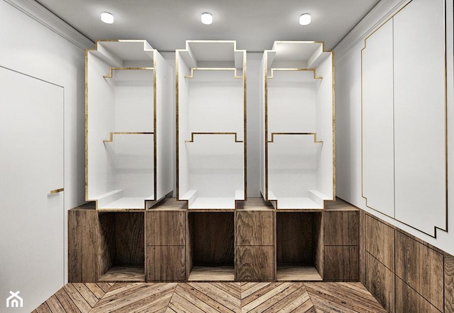 Aranżacje wnętrz - Garderoba: #13 Dom w Warszawie - Średnia zamknięta garderoba oddzielne pomieszczenie, styl glamour - BOLD Design. Przeglądaj, dodawaj i zapisuj najlepsze zdjęcia, pomysły i inspiracje designerskie. W bazie mamy już prawie milion fotografii!