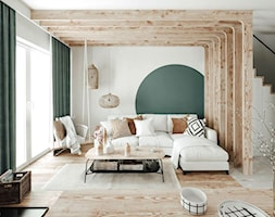 #23 Dom wczasowy w Karpaczu - Salon, styl skandynawski - zdjęcie od BOLD Design - Homebook