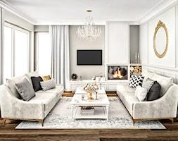 #11 Dom w Białymstoku - Średni szary salon, styl glamour - zdjęcie od BOLD Design