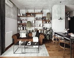 #24 Mieszkanie w Warszawie - Salon, styl industrialny - zdjęcie od BOLD Design - Homebook