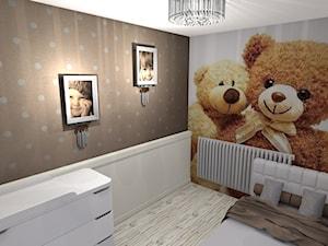 budynek mieszkalny - Średni szary brązowy pokój dziecka dla chłopca dla rodzeństwa dla malucha, styl nowoczesny - zdjęcie od Studio graficzne SCHADE