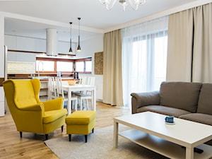 Woronicza - Średni kolorowy salon z kuchnią z jadalnią, styl eklektyczny - zdjęcie od Qbik Design