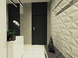 Mieszkanie Jaworzno - Średni szary hol / przedpokój, styl skandynawski - zdjęcie od ZIN studio