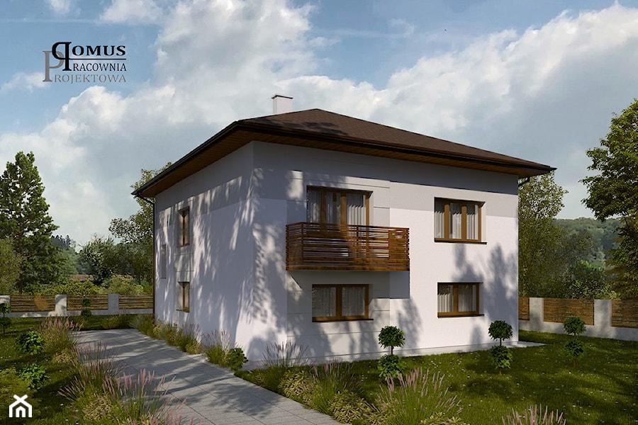 Projekt Elewacji Domu Jednorodzinnego Typu Kostka W Jaworznie