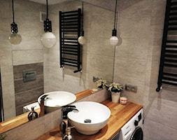 Metamorfoza kuchni i łazienki - Mała łazienka w bloku w domu jednorodzinnym bez okna - zdjęcie od pawel-jaroszkiewicz