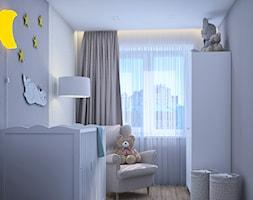 Pierwsze mieszkanie Kasi - Mały szary pokój dziecka dla chłopca dla dziewczynki dla niemowlaka, styl tradycyjny - zdjęcie od Studio projektowania wnętrz''Studio Aranżacji''
