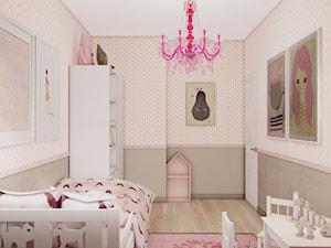 Dom W Grudzicach - Mały szary beżowy pokój dziecka dla dziewczynki dla ucznia dla malucha dla nastolatka, styl klasyczny - zdjęcie od Studio projektowania wnętrz''Studio Aranżacji''