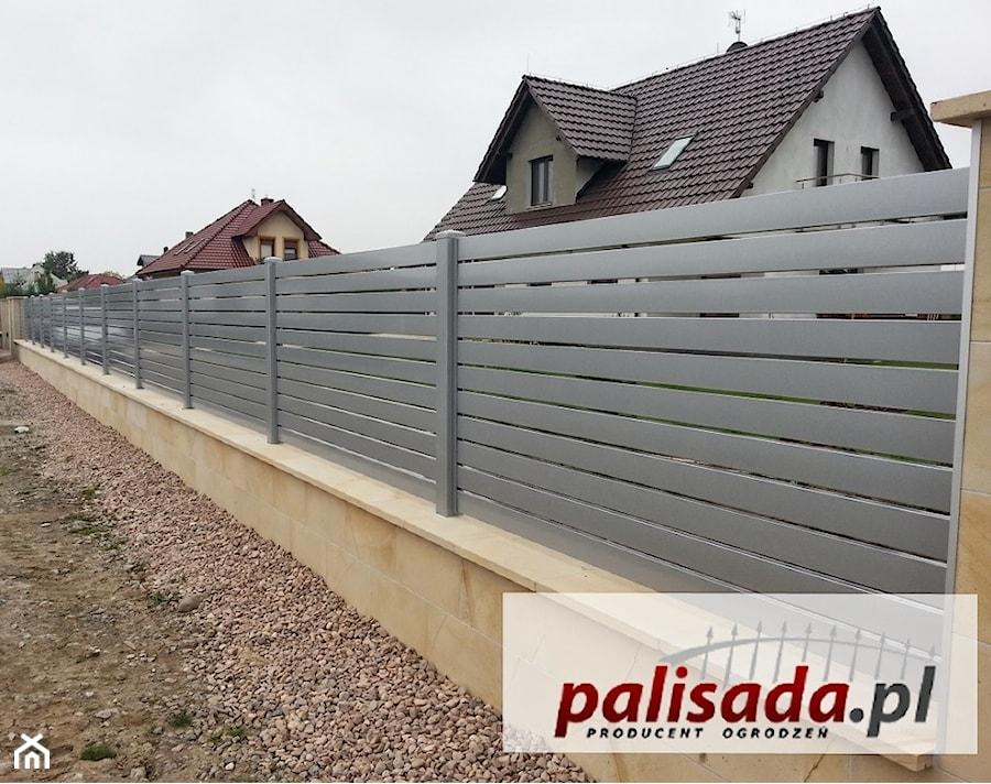 Nowoczesne Ogrodzenie Aluminiowe Al12 Zdjecie Od Palisada Pl