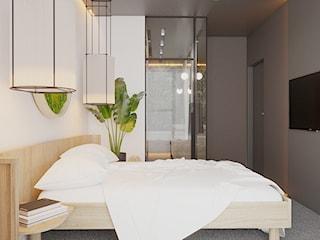 Master bedroom w naturalnych klimatach - Warszawa