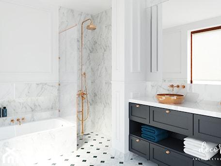 Aranżacje wnętrz - Łazienka: Apartament Na Mokotowie, 86,4 M² - Decoroso Architektura Wnętrz. Przeglądaj, dodawaj i zapisuj najlepsze zdjęcia, pomysły i inspiracje designerskie. W bazie mamy już prawie milion fotografii!