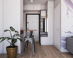 Kawalerka z fioletowymi akcentami - zdjęcie od Decoroso Architektura Wnętrz - Homebook