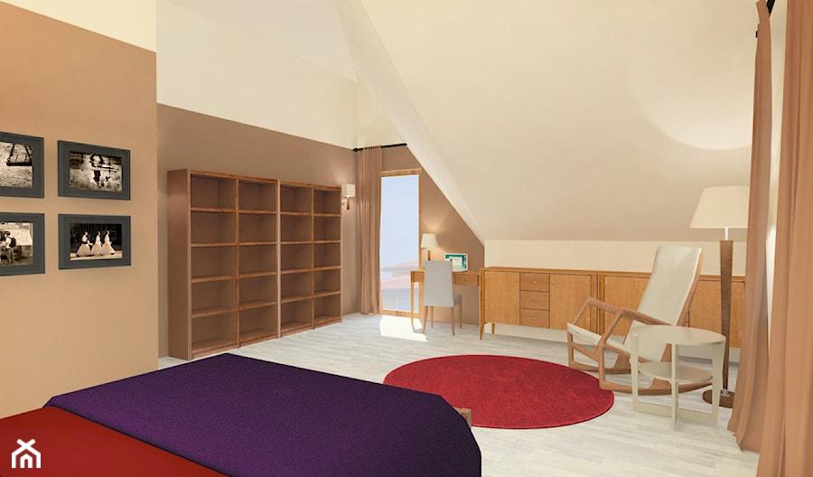 Sypialnia Na Strychu Zdjęcie Od Projektwnet
