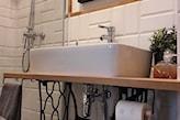 maszyna do szycia jako podstawa umywalki