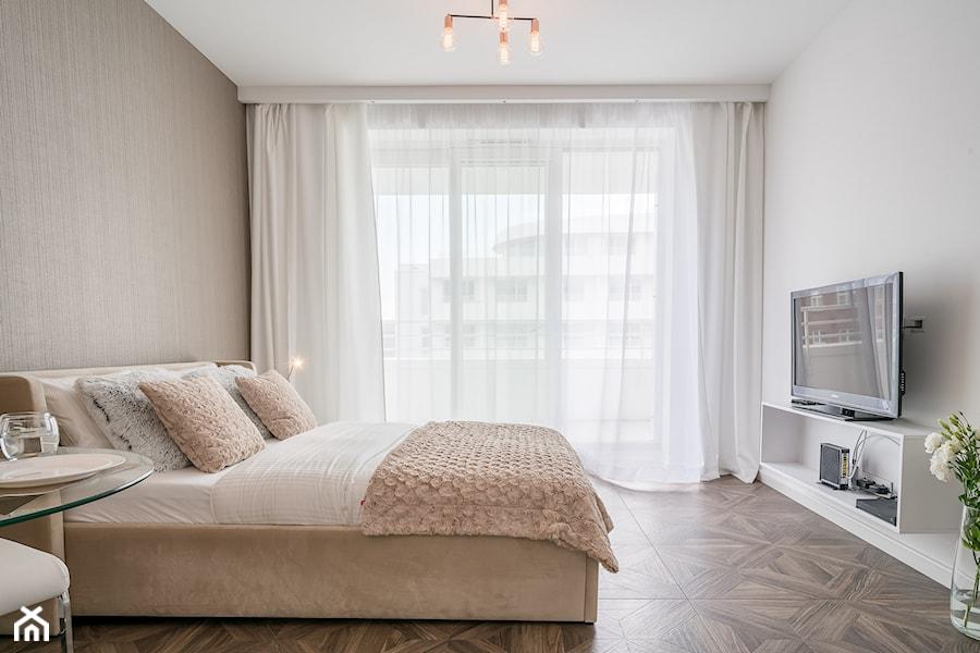 Projekt Wnętrza Mieszkania 25m2 Duża Beżowa Biała