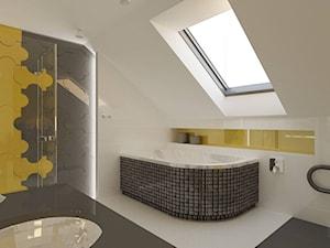 Łazienka z żółtym akcentem