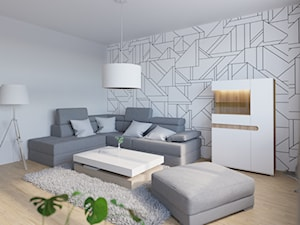 Projekt pokoju i salonu dla kawalera