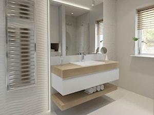 Projekt łazienki w apartamencie dla kawalera