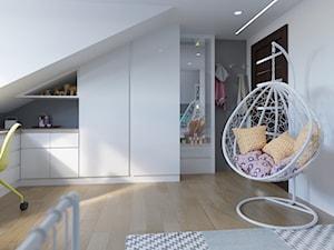 Pokój dla dziewczynki w domu jednorodzinnym - styl nowoczesny