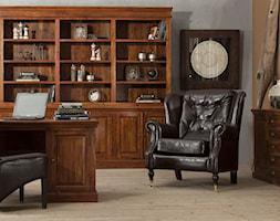 Średnie brązowe szare biuro domowe w pokoju - zdjęcie od AlmiDecor.com