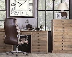 Małe szare biuro domowe w pokoju, styl tradycyjny - zdjęcie od AlmiDecor.com