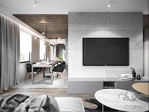 MIESZKANIE JAWORZNO 70 M2 - Średnia otwarta szara jadalnia jako osobne pomieszczenie, styl nowoczesny - zdjęcie od EDYTA SOWIŃSKA INTERIOR DESIGN
