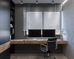DOM JEDNORODZINNY TARNOWSKIE GÓRY 100m2 - Średnie szare biuro domowe kącik do pracy w pokoju, styl ... - zdjęcie od EDYTA SOWIŃSKA INTERIOR DESIGN - Homebook