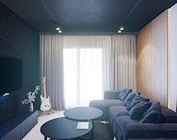 MIESZKANIE KRAKÓW 40 M2 - Średni biały czarny salon, styl nowoczesny - zdjęcie od EDYTA SOWIŃSKA INTERIOR DESIGN - Homebook