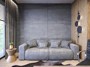 MIESZKANIE KATOWICE 75 M2 - Małe średnie szare biuro domowe w pokoju, styl nowoczesny - zdjęcie od EDYTA SOWIŃSKA INTERIOR DESIGN