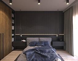 MIESZKANIE KRAKÓW 40 M2 - Mała czarna sypialnia małżeńska, styl klasyczny - zdjęcie od EDYTA SOWIŃSKA INTERIOR DESIGN - Homebook