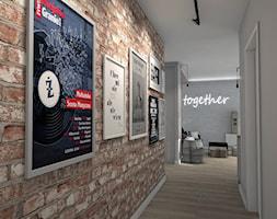 Salon w stylu industrialnym - Średni szary hol / przedpokój, styl industrialny - zdjęcie od Projekty Wnętrz LAURA KOZAK