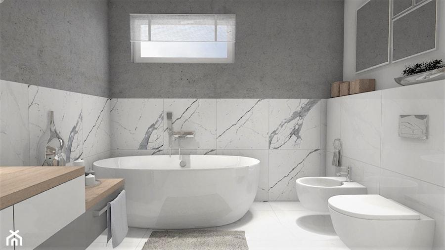 łazienka Z Wanną Wolnostojącą Mała Biała Szara łazienka Na